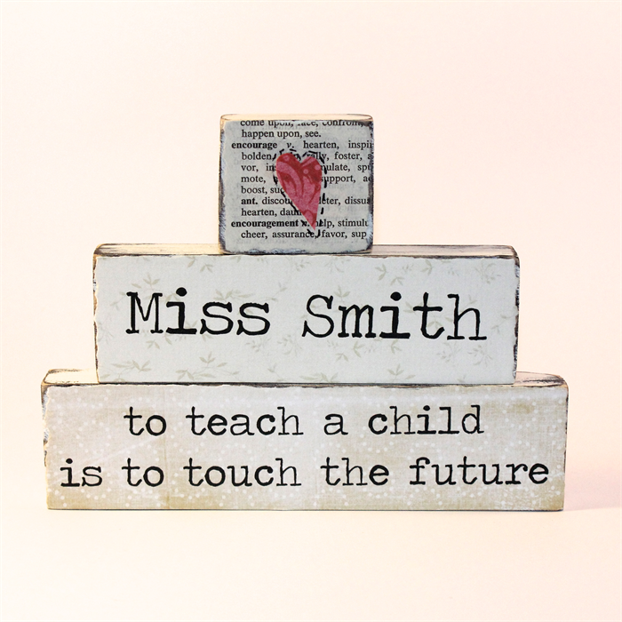 Sso Quote: Personalised Shabby Style Teacher Appreciation Word Block