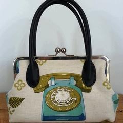 SALE Telephone Large Clutch Bag