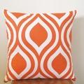 Retro Emily Teardrop Tangelo Orange Cushion Cover   40cm x 40cm - Retro Cushions