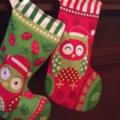 """CUSTOM ORDER """"Night Owl"""" Christmas Stocking"""
