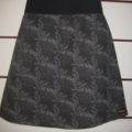 Charcoal Skirt with Leaves & Bamboo Stretch Waist