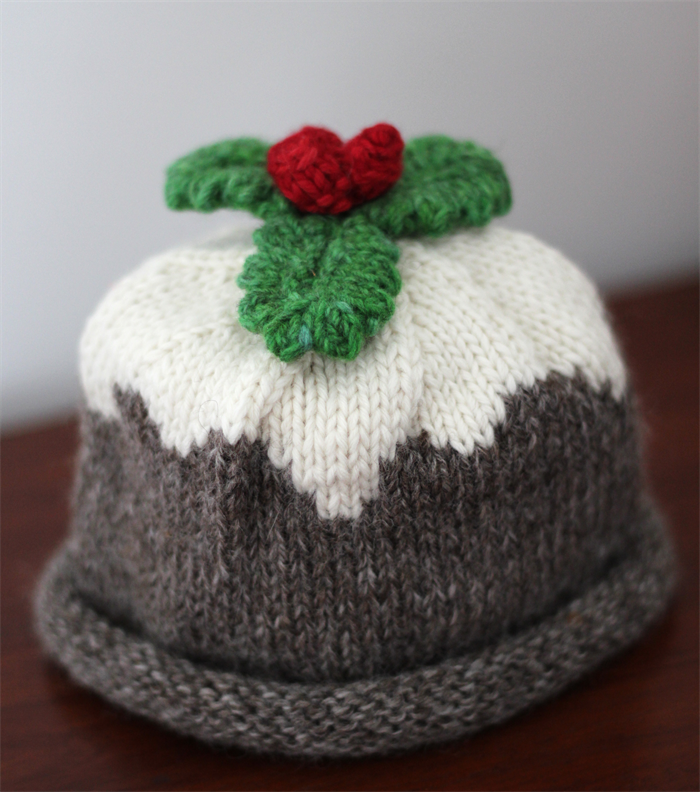 Hand Knitted Hat Patterns : Christmas Pudding - Organic Merino Hand Knitted Baby Hat, newborn - 3 months ...