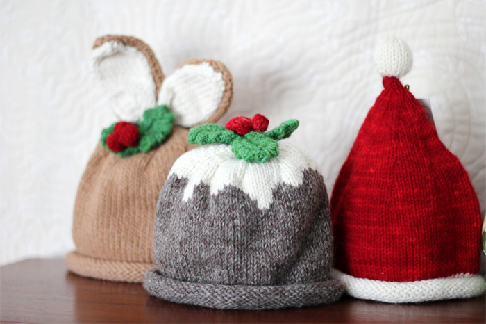 Knitting Pattern Christmas Pudding Hat Baby : Christmas Pudding - Organic Merino Hand Knitted Baby Hat, newborn - 3 months ...
