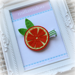 Orange Fruit Hairclip
