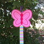 Felt Butterfly Hair Clip Holder with Ribbon