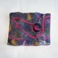Felted Earring Case Organizer Jewelry Handmade Multicolor