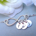 Personalized Infinity Bracelet With Three Initials - Sterling Silver Bracelet