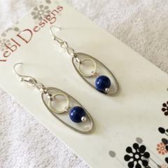 Something Blue Circle Earrings