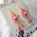Pink Sherbet flower earrings