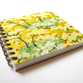 Notebook - Green and yellow Japanese Chiyogami