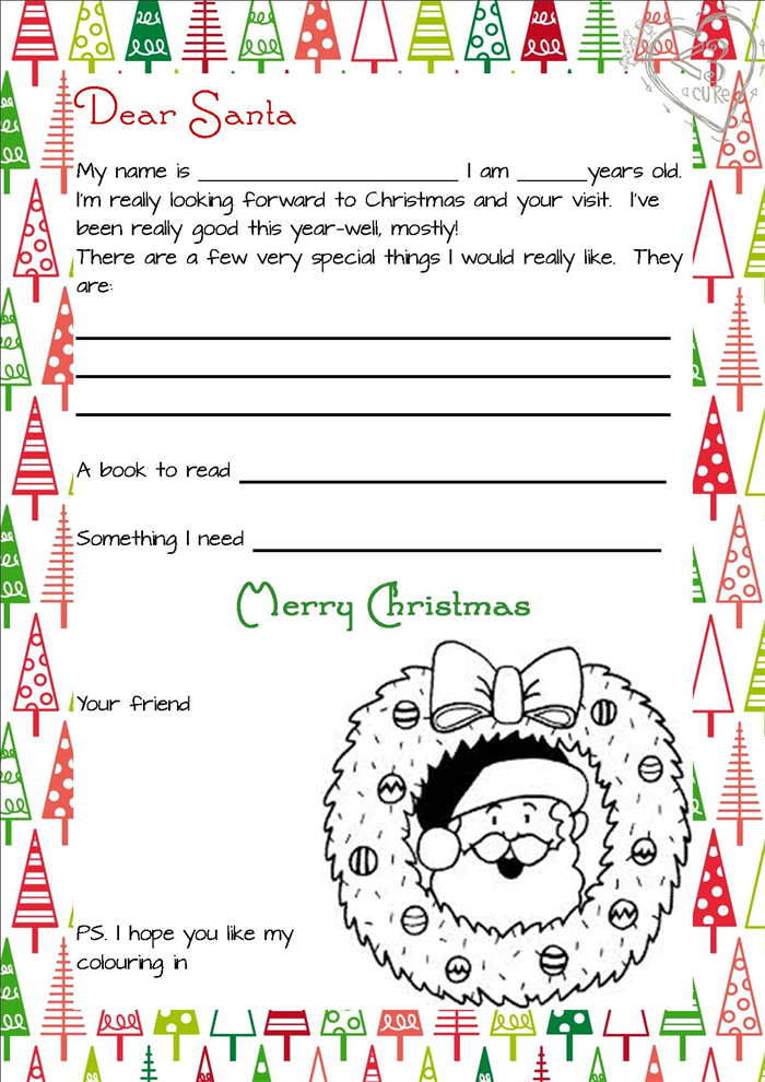 3 piece printable christmas letter from santa love a cure madeit 3 piece printable christmas letter from santa spiritdancerdesigns Gallery