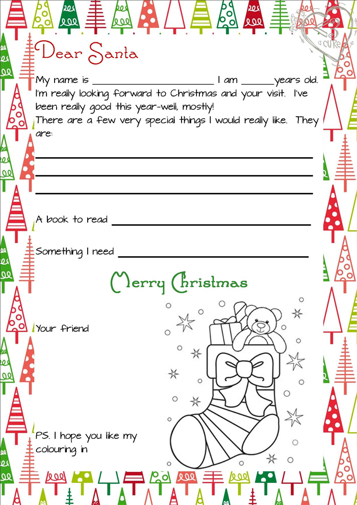 3 Piece Printable Christmas Letter From Santa Love A