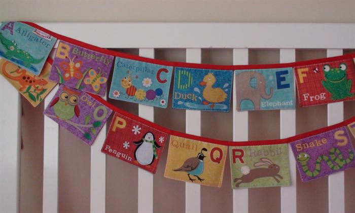 Rainbow Alphabet Bunting Bedroom Nursery Playroom Letter Flags
