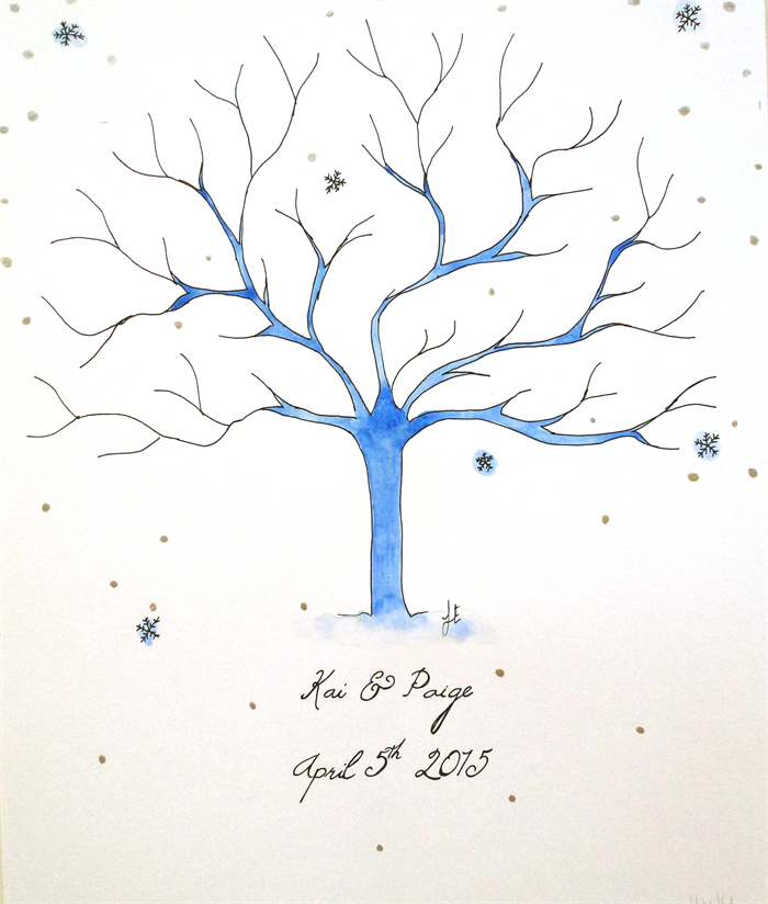 Fingerprint Tree Wedding Tree Graduation Gift Fionaeverette