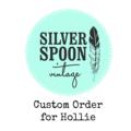 CUSTOM ORDER FOR HOLLIE - 2 pairs of cake forks