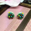 Christmas tree polymer earrings free shipping