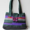 Green, Red, Purple Shoulder Bag