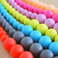 2 Pack - Washable Silicone Necklace - Original Round Beads