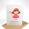 Happy Birthday Card - Girl - Fairy Princess in a Pink Dress - HBC139