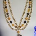 """""""BANANA TREE"""" multi row necklace"""