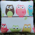 Wise Owl Cushion Pillow, Girls room decor