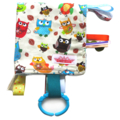 Taggy Snuggly Tag Toy Mini Blankie Comforter Taggie . Bright Hoot Owls for Boys