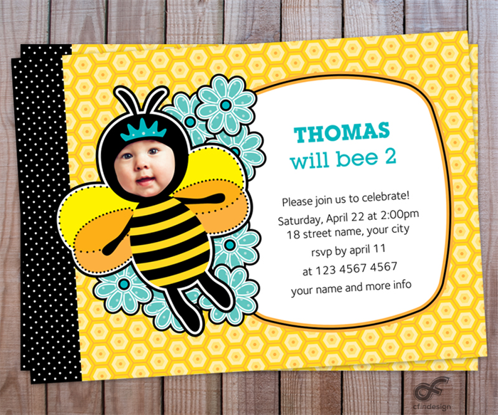 Birthday Party Invitation Photo Personalised Printable