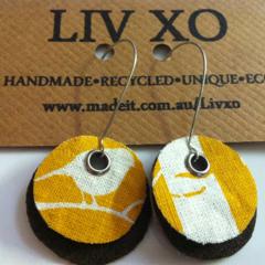 Eco earrings mustard