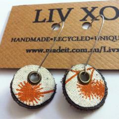 Eco earrings rust