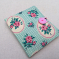 Sanitary / Pads wallet - pink roses green - higgi handmade