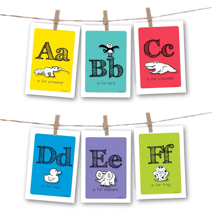 Alphabet Farm Flash Cards Pack With Hanging Supplies Hazyprints