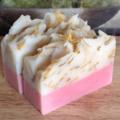 White Tea & Ginger Handmade Soap With Dried Calendula Petals