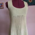 Mary Sleeveless Long Tunic Honeydew Top Size 8/S