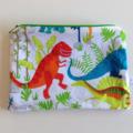 fabric zip zipper pouch gift idea boys girls christmas stocking filler dinosaur