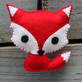 Cute Red Fox Keyring or Bag Tag