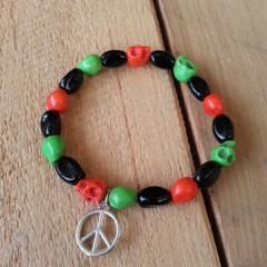SALE Skulls and Peace Bracelet