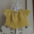 Hand Knit, 6mths, Cotton, Baby Cardi / Shrug / Bolero, Leaves, Yellow
