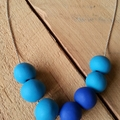 Two Tone Clay Necklace