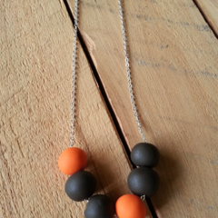 SALE Retro Clay Necklace