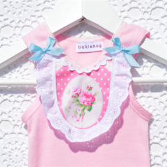 Sunshine Roses Singlet Top bloomers pinafore ruffle nappy pants newborn
