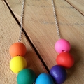 Rainbow Clay Necklace