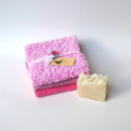 Recycled Cotton Cloths Gift Pack, Vintage Chenille and Table Linens, Free Soap