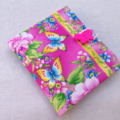 Sanitary / Pads wallet - pink yellow blue butterfly - higgi handmade