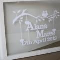 Personalised Baby Papercut