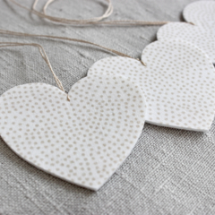 Set of 3 Fabric Hearts Decoration FREE POSTAGE ***LAST ONE***