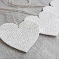 Set of 3 Fabric Hearts Decoration FREE POSTAGE ***LAST ONE***