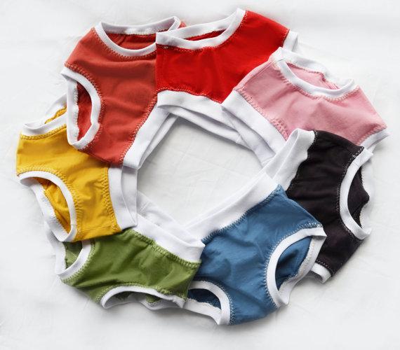 dde61f1db16 Organic cotton girls undies, baby, toddler, child. Handmade underwear. 3  pairs | Morningstar Designs | madeit.com.au