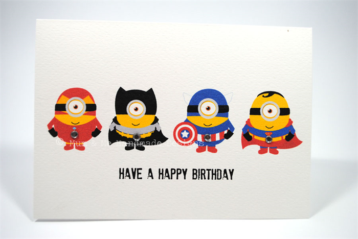 happy birthday card  boy  despicable me superheroes  hbc, Birthday card