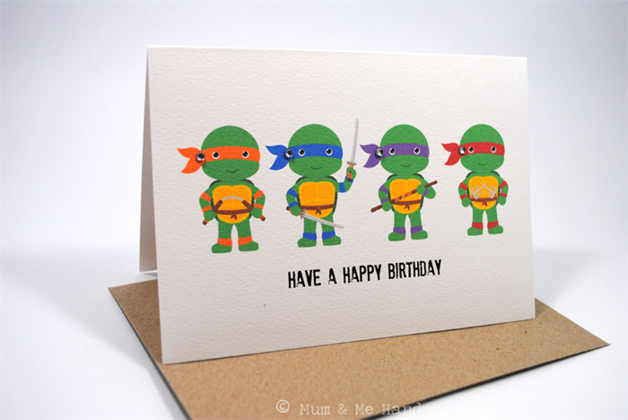 Birthday Ecards For Teenager Lovely Cards Teenage Boys Mutant Ninja Turtles