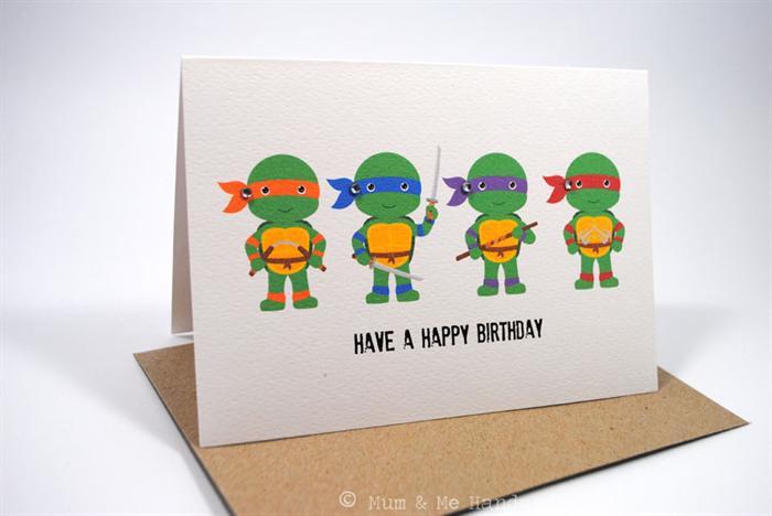 Happy Birthday Card - Boy - Teenage Mutant Ninja Turtles ...